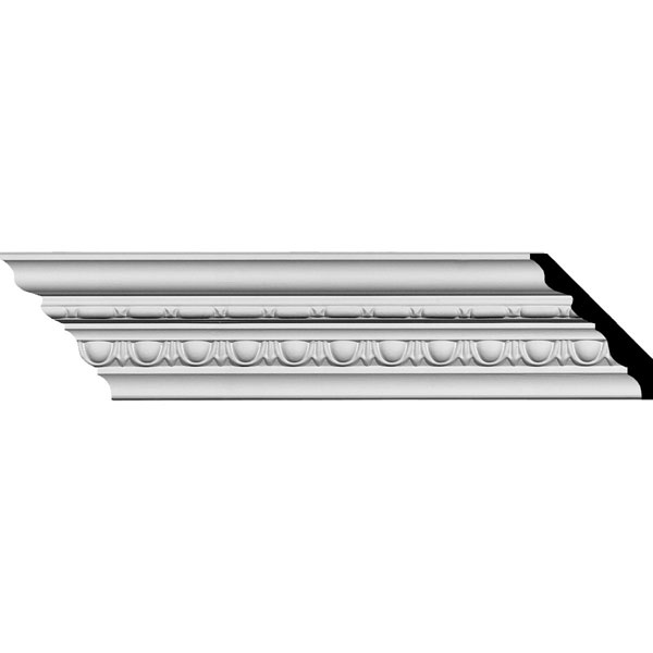 "SAMPLE - 3 5/8""H x 3 3/8""P x 5""F x 12""L Stockport Traditional Crown Moulding"