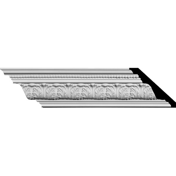 "SAMPLE - 3 3/4""H x 4 5/8""P x 6""F x 12""L Palmetto Crown Moulding"