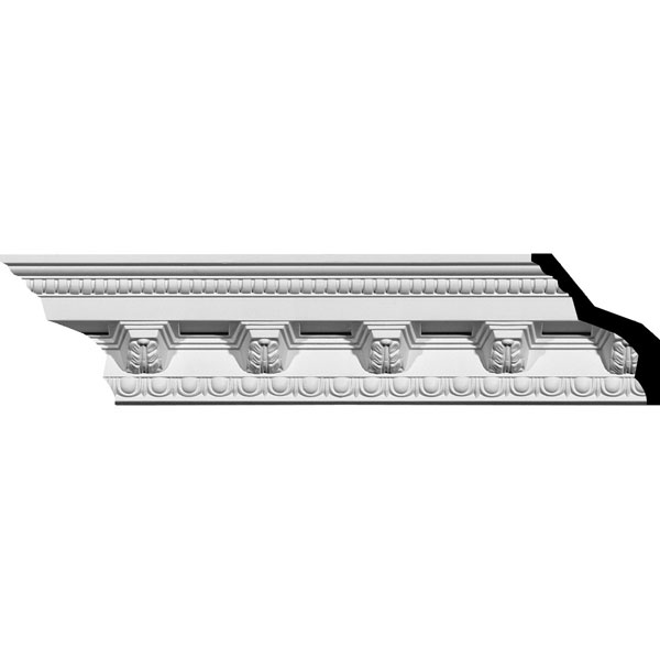 "SAMPLE - 3 7/8""H x 3 5/8""P x 5 3/8""F x 12""L Attica Crown Moulding"