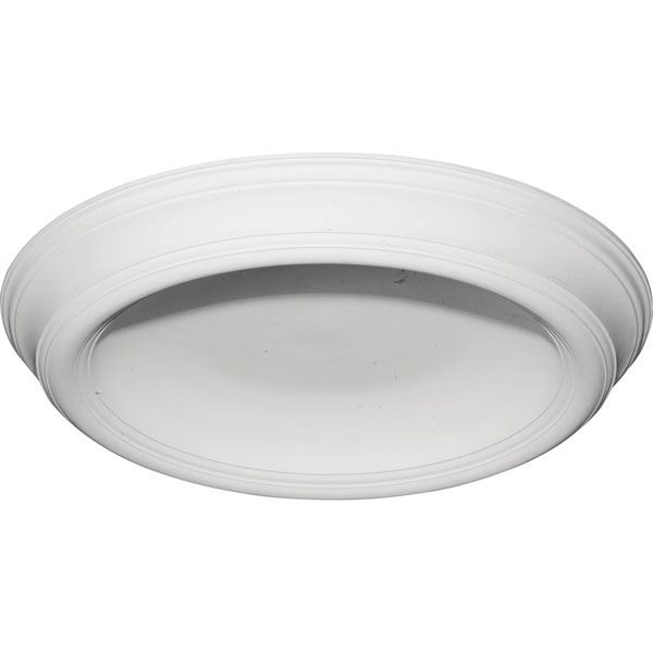 "37 3/8""OD x 26 1/2""ID x 4""D Traditional Smooth Surface Mount Ceiling Dome"