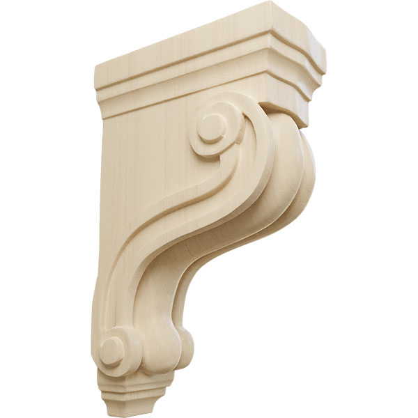 Boston Traditional Scroll Wood Corbel