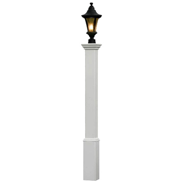 "6""W x 6""D x 72""H Madison Lamp Post (Lamp not included), White"