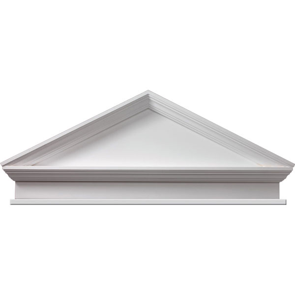 "47 1/2""W x 52""OW x 20 1/2""H x 3 1/8""P, Pitch 6 / 12 Combination Peaked Cap Pediment w/ Bottom Trim"