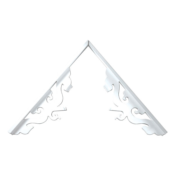 Fypon ltd gpk401 39 3 8 inch l pitch 5 12 to 14 12 side r for Fypon gable decorations