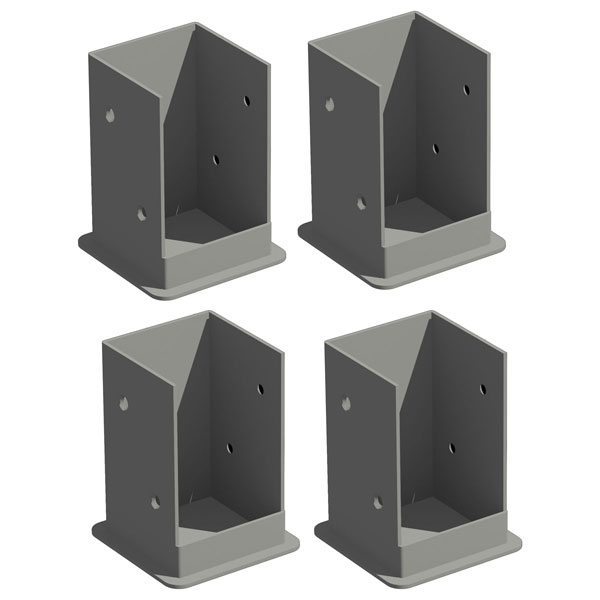 Bolt-Down Bracket Kit Including Hardware (Kit of 4 for Pergola, Kit of 1 for Privacy Fence Panel post)
