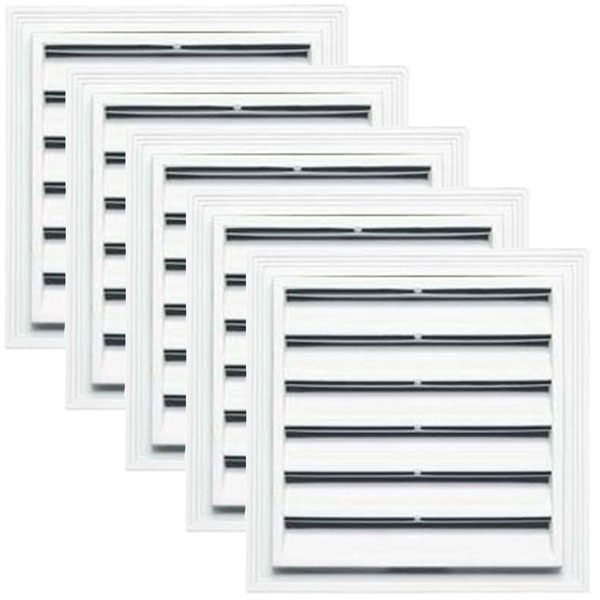 "12""W x 12""H Square Gable Vent Louver, 38 Sq. Inch Vent Area, 001 - White (5/pack)"