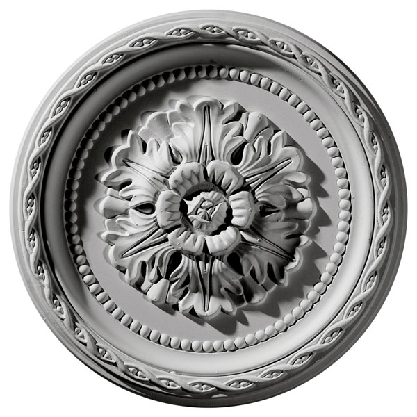 "11 1/2""OD x 1""P Palmetto Ceiling Medallion"