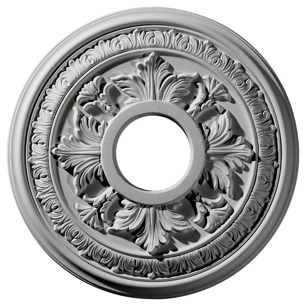 """15 3/8""""OD x 4 1/4""""ID x 1 1/2""""P Baltimore Ceiling Medallion (Fits Canopies up to 5 1/2"""")"""