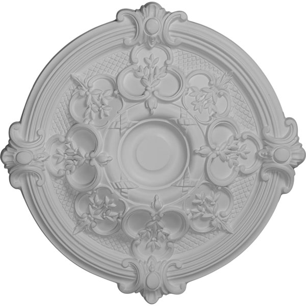 "17 3/8""OD x 1 3/4""P Hamilton Ceiling Medallion (Fits Canopies up to 3 3/4"")"
