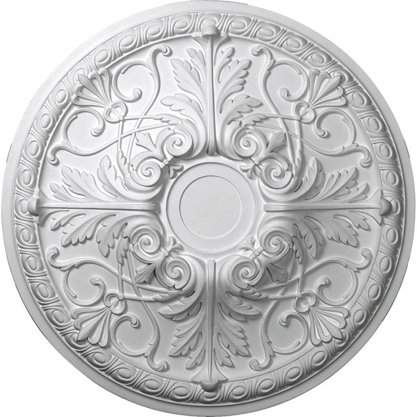 "26""OD x 3""P Tristan Ceiling Medallion (Fits Canopies up to 5 1/2"")"