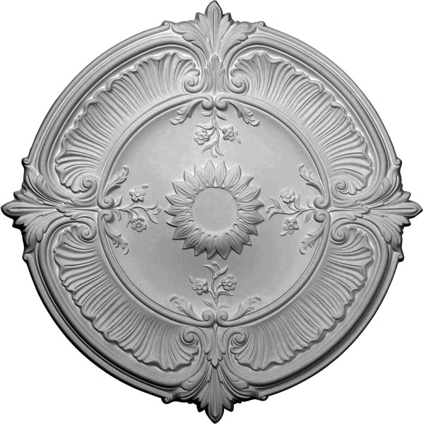 "30 1/8""OD x 1 1/2""P Attica Acanthus Leaf Ceiling Medallion (Fits Canopies up to 3 1/4"")"