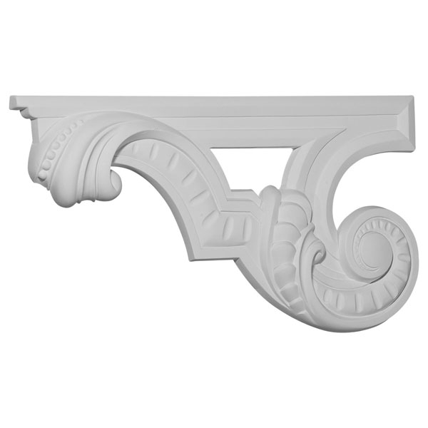"12 3/8""W x 6 5/8""H x 3/4""D Scroll Stair Bracket, Left"