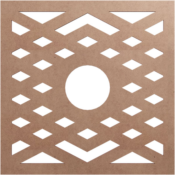Chevron Wood Fretwork Ceiling Medallion