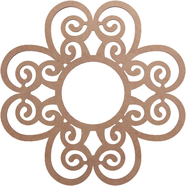 Cohen Wood Fretwork Ceiling Medallion