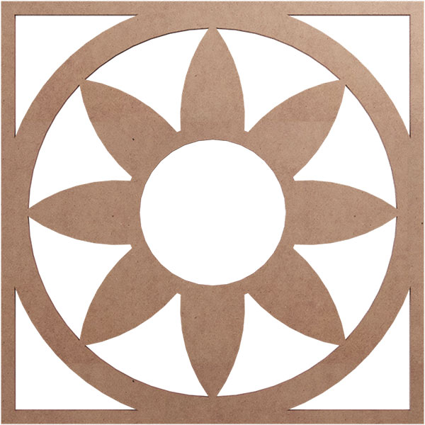Blume Wood Fretwork Ceiling Medallion