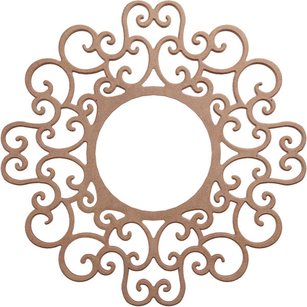 Reims Wood Fretwork Ceiling Medallion