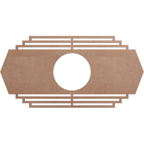 Chrysler Wood Fretwork Ceiling Medallion