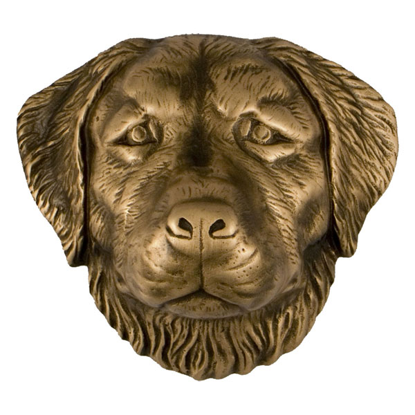 "5""W x 3""D x 4""H Michael Healy Golden Retriever Door Knocker, Bronze"