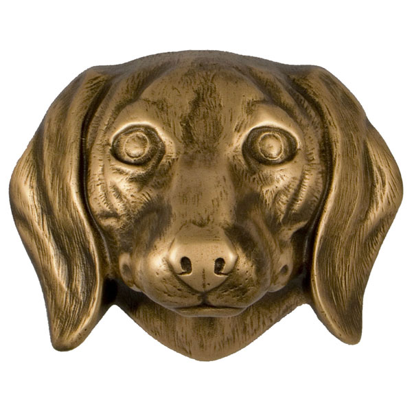 "3""W x 4""D x 4""H Michael Healy Daschund Door Knocker, Bronze"