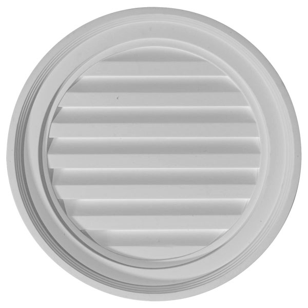 "18""W x 18""H x 2 1/4""P, Round Gable Vent Louver, Functional"