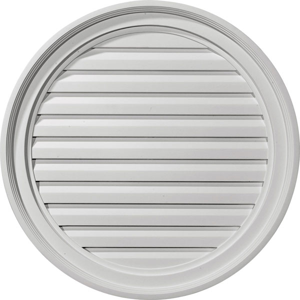 "24""W x 24""H x 1 5/8""P, Round Gable Vent Louver, Functional"