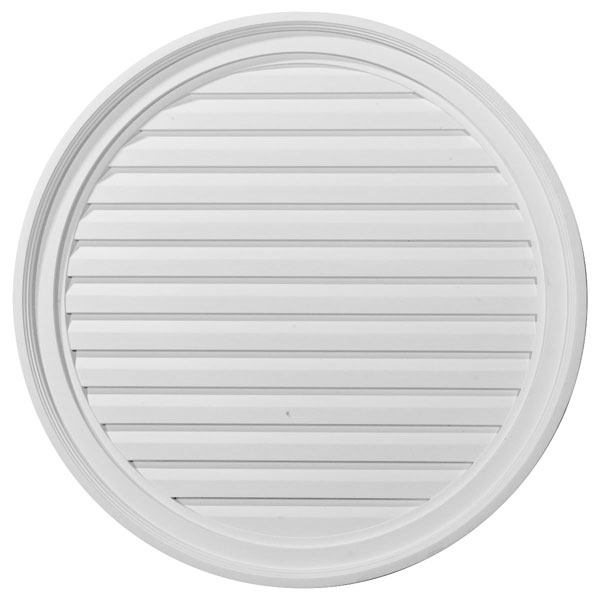 "28""W x 28""H x 2 3/8""P, Round Gable Vent Louver, Functional"
