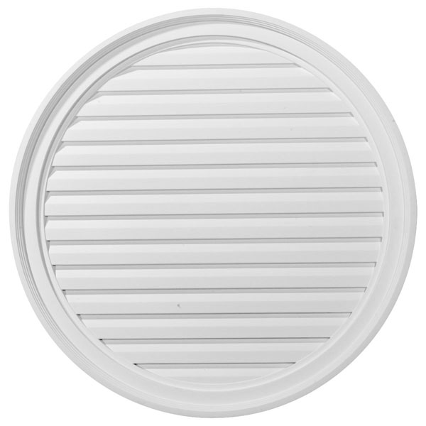"30""W x 30""H x 2 3/8""P, Round Gable Vent Louver, Functional"