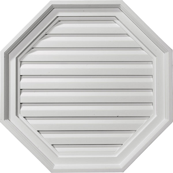 "22""W x 22""H x 2 1/8""P,  Octagon Gable Vent Louver, Functional"