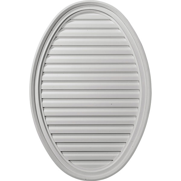 "25""W x 37""H x 2 1/8""P, Vertical Oval Gable Vent Louver, Functional"