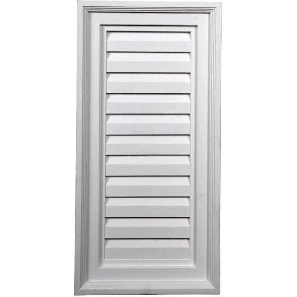 "12""W x 24""H x 2 1/8""P, Vertical Gable Vent Louver, Decorative"
