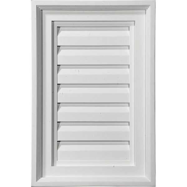 "15""W x 15""H x 2 1/4""P, Vertical Gable Vent Louver, Decorative"