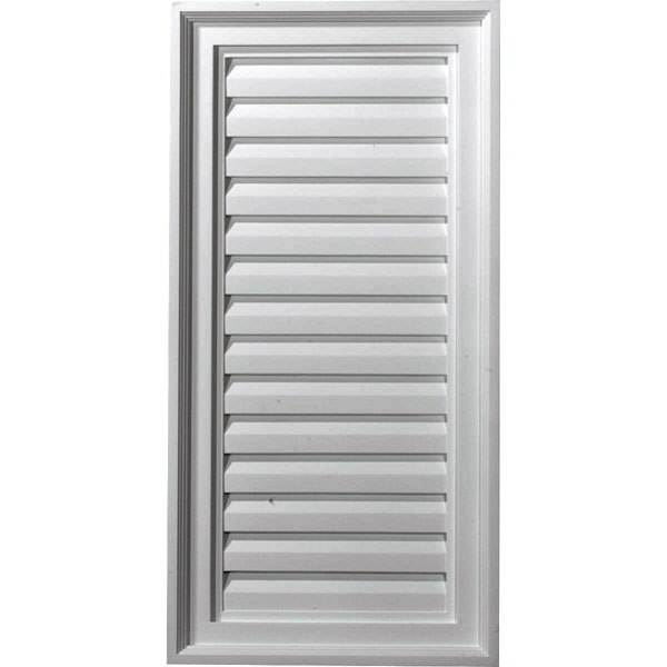 "15""W x 30""H x 2 1/8""P, Vertical Gable Vent Louver, Decorative"