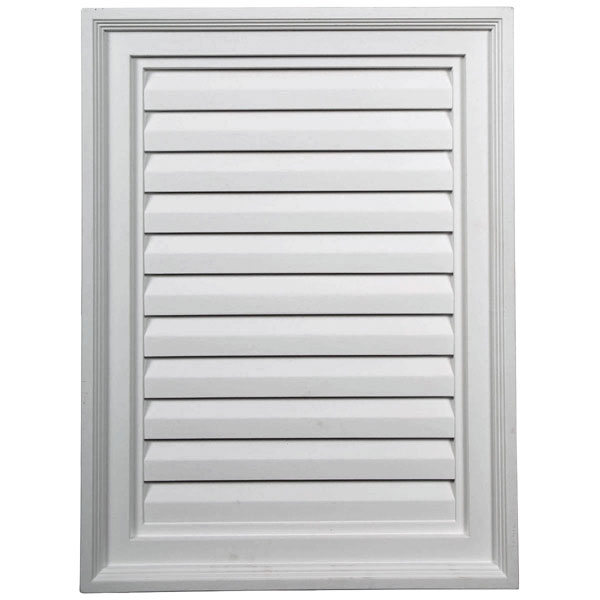 "18""W x 24""H x 2 1/4""P, Vertical Gable Vent Louver, Decorative"