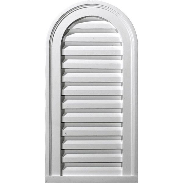 "14""W x 32""H x 2 5/8""P, Cathedral Gable Vent Louver, Decorative"