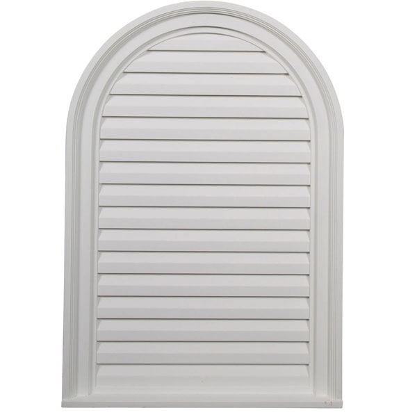 "22""W x 32""H x 2 1/8""P, Cathedral Gable Vent Louver, Decorative"