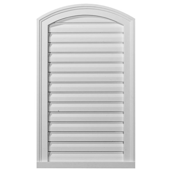 "18""W x 30""H x 1 1/2""P, Eyebrow Gable Vent Louver, Decorative"