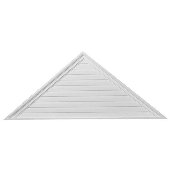"65""W x 32 1/2""H x 2 1/4""P,  Pitch 12/12 Triangle Gable Vent, Functional"