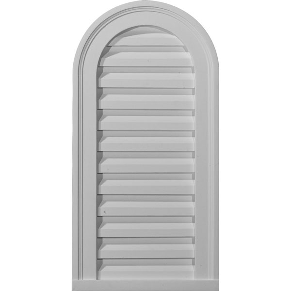 """22""""W x 32""""H x 2 3/8""""P, Cathedral Gable Vent Louver, Functional"""