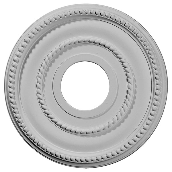 "12 1/8""OD x 3 5/8""ID x 3/4""P Valeriano Ceiling Medallion (Fits Canopies up to 6 1/4"")"