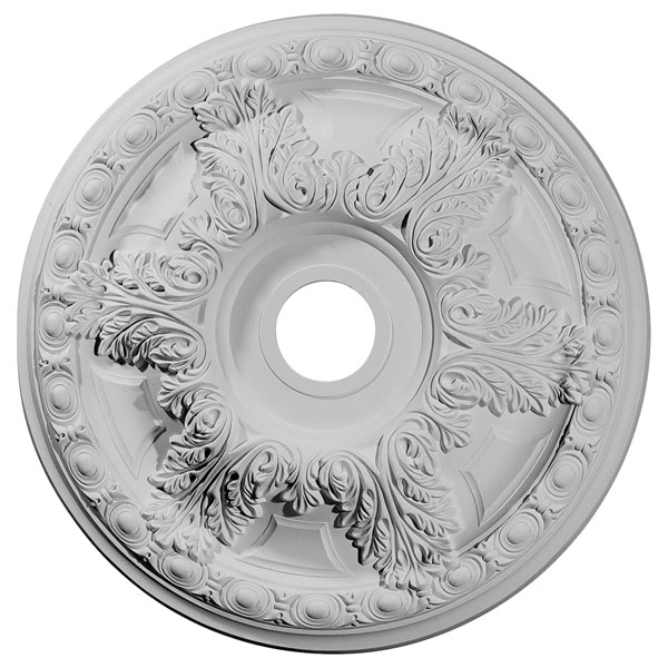 "23 3/8""OD x 3 5/8""ID x 2 1/2""P Granada Ceiling Medallion (Fits Canopies up to 7 1/8"")"
