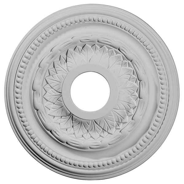 "15 3/4""OD x 3 1/4""ID x 1""P Galway Ceiling Medallion (Fits Canopies up to 3 1/4"")"