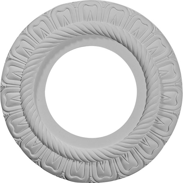 "9""OD x 4 1/2""ID x 1/2""P Claremont Ceiling Medallion (Fits Canopies up to 5 5/8"")"