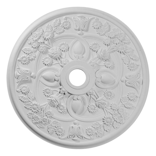 "30 7/8""OD x 3 5/8""ID x 1 3/8""P Rose Ceiling Medallion (Fits Canopies up to 5 1/4"")"