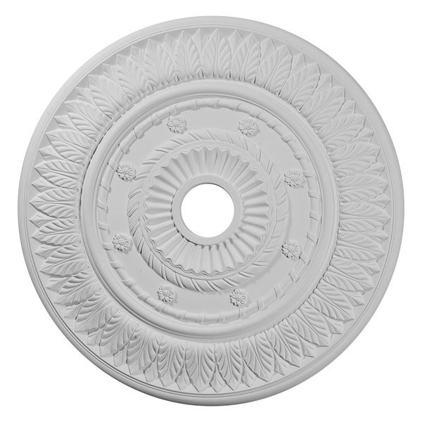 "26 3/4""OD x 3 5/8""ID x 1 1/8""P Leaf Ceiling Medallion (Fits Canopies up to 3 5/8"")"