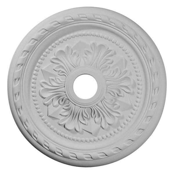 "23 5/8""OD x 3 5/8""ID x 1 5/8""P Palmetto Ceiling Medallion (Fits Canopies up to 3 5/8"")"