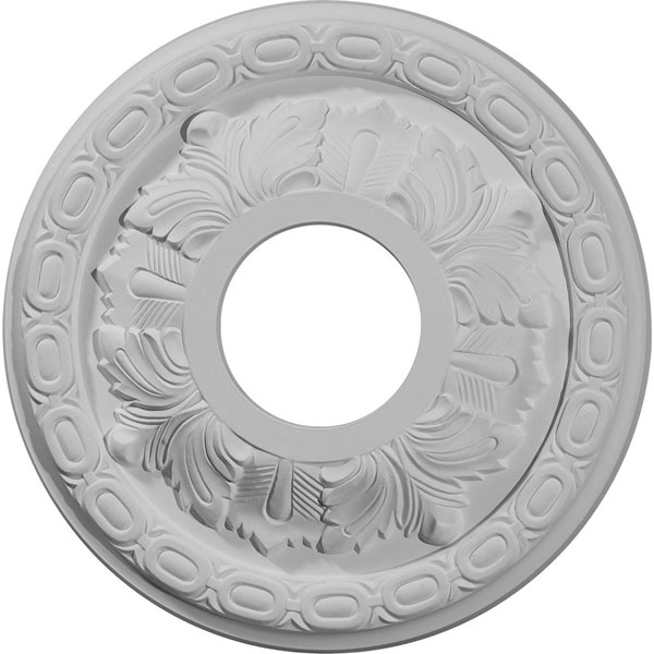 "11 3/8""OD x 3 5/8""ID x 1 1/8""P Leaf Ceiling Medallion (Fits Canopies up to 4 3/4"")"