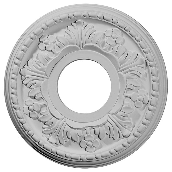 "11 7/8""OD x 3 5/8""ID x 7/8""P Helene Ceiling Medallion (Fits Canopies up to 5 1/4"")"