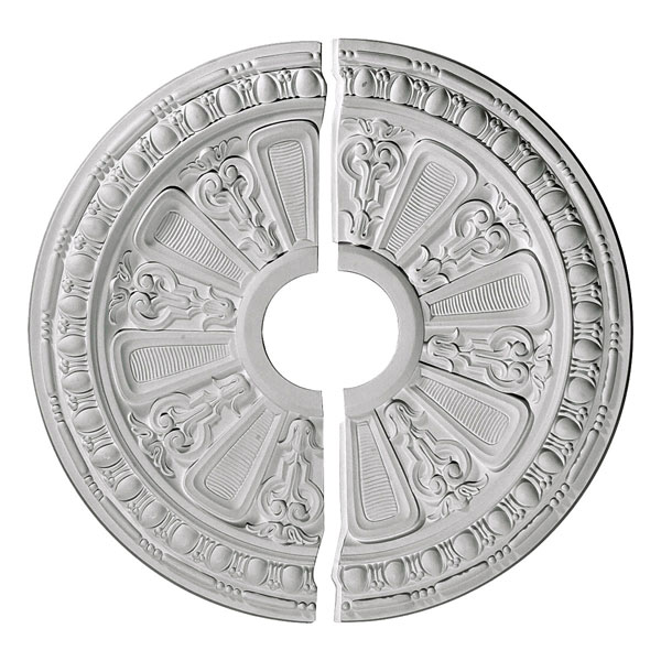 "17 5/8""OD x 3 5/8""ID x 7/8""P Raymond Ceiling Medallion, Two Piece (Fits Canopies up to 3 5/8"")"
