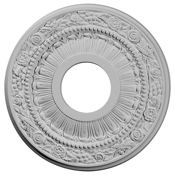 "12 1/8""OD x 3 5/8""ID x 7/8""P Nadia Ceiling Medallion (Fits Canopies up to 4 7/8"")"