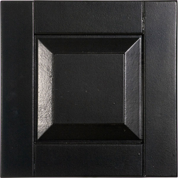 raised panel wood composite shutter sample e80 black with color chart - Shutter Hardware